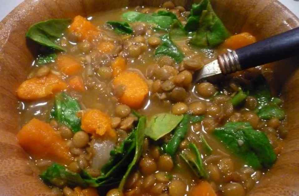 Lentil, Sweet Potato and Spinach