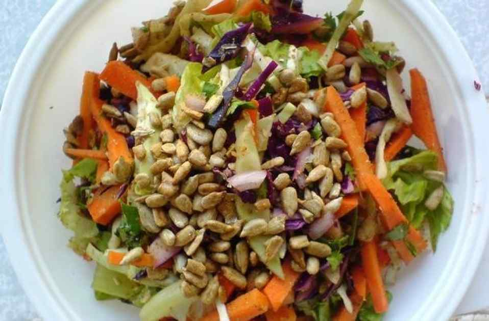 Carrot and Cabbage Salad With
