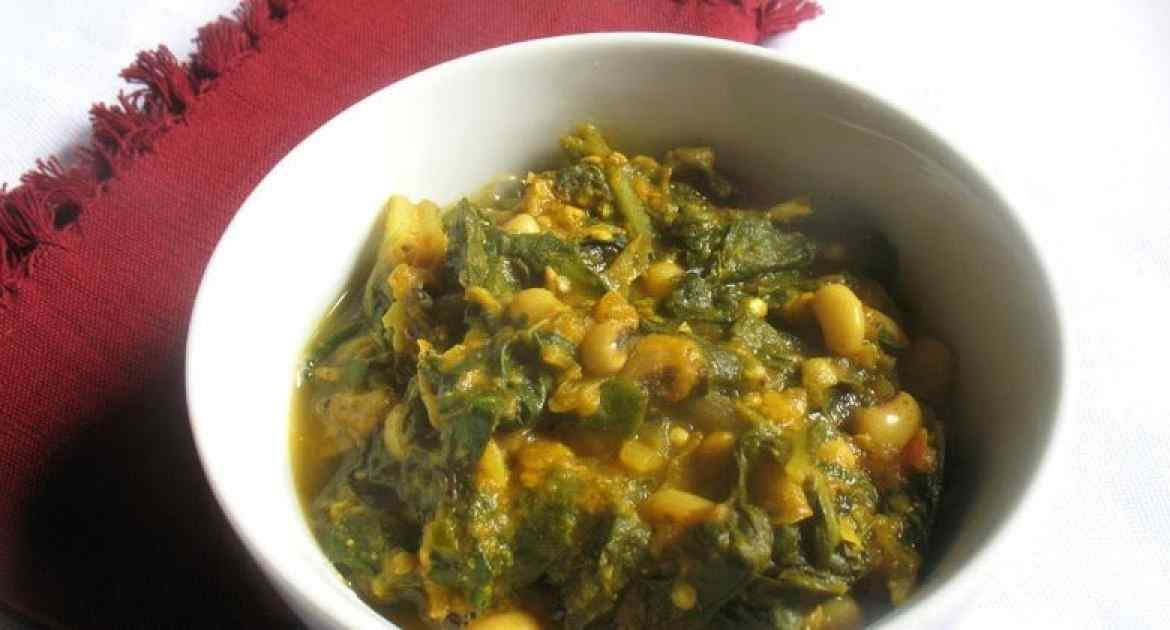 Spicy Black-Eyed Pea Curry with Swiss