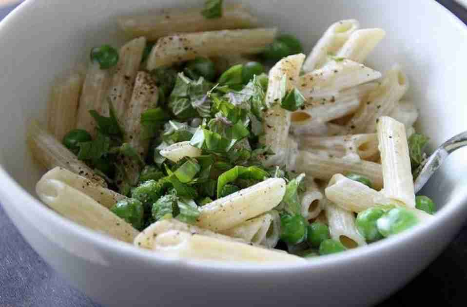 Penne with Goat Cheese and Basil Recipe