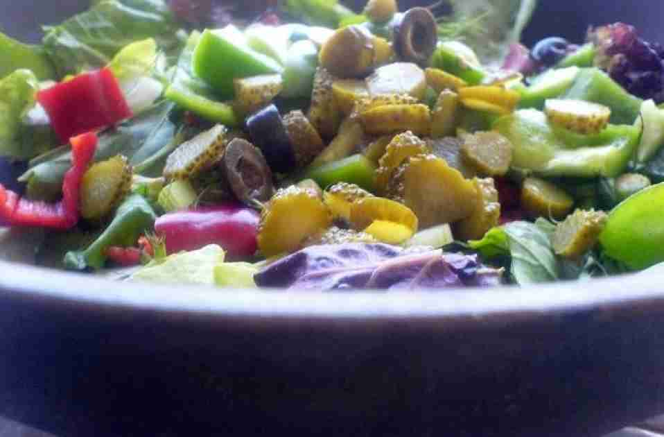 fennel, Peppers, Lettuce Salad Recipe