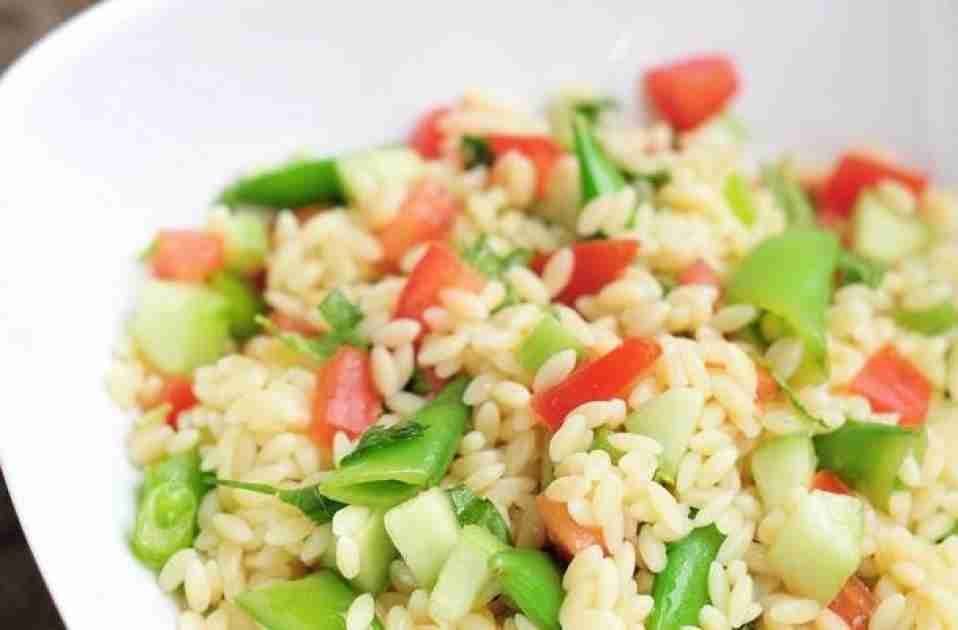 Orzo Salad With Vegetables and Herbs Recipe